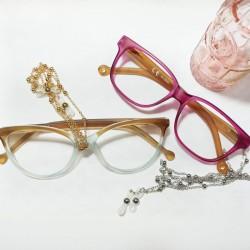 Cordón metálico para gafas